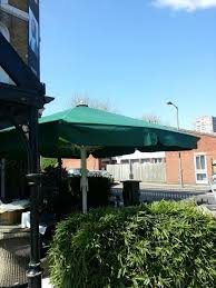 metre giant umbrella: the giant umbrella at the duke of cambridge a youngs pub in battersea has