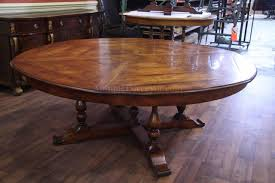 ft dining table homes large  person round dining table with rustic wooden style