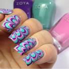 Tutorial di nail art - Come fare la marble nail art con l acqua -