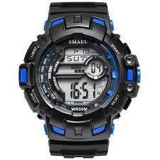 <b>Smael LED</b> montres numériques armée vert hooges hommes S ...
