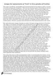 truth essay  year  hsc   english advanced  thinkswap truth essay