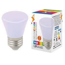 <b>Лампа</b> светодиодная <b>LED</b>-<b>D45</b>-<b>1W</b>/<b>RGB</b>/<b>E27</b>/<b>FR/С BELL</b> мульти ...