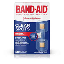 <b>BAND</b>-<b>AID Clear</b> Spots Bandages 50 ea ( Pack of 3): Amazon.in ...