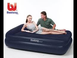 <b>BESTWAY</b> 67345 Inflatable <b>Bed</b> unboxing and review / <b>Надувная</b> ...