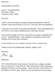 roofing testimonials larry vaught roofing company