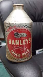 17 best images about beer can crowntainers iroquois the james hanley co hanleys extra dry lager beer cone top beer can providence ri