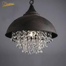 Postmodern <b>LED</b> Crystal Pendant Lighes Lighting <b>Wrought Iron</b> ...