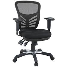 amazoncom lexmod articulate black mesh office chair kitchen dining black office chair