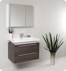 fresca medio gray oak bathroom vanity w two drawers and white simple designer bathroom vanity cabinets
