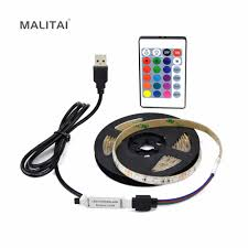 1M 2M 3M 4M 5M Waterproof USB <b>RGB</b> Decor <b>LED Strip 2835 SMD</b> ...
