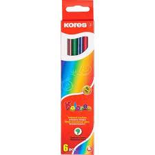 <b>Карандаши цветные Kores 6</b> цветов шестигранные – выгодная ...