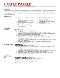 fast food resume sample   no experience   easy resumes for you     fast food resume sample   no experience