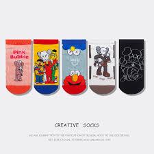 Famale Cute Cartoon Pattern Sock <b>Fashion Breathable Cotton</b> ...