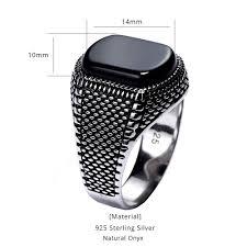 <b>Turkey Jewelry Black Ring</b> Men Light weight 6g Real 925 Sterling ...