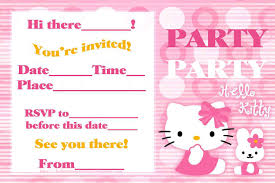 hello kitty birthday invitations invitations templates related for hello kitty birthday invitations