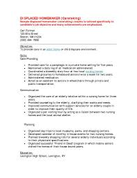 of resumes for displaced housewives samples of resumes for displaced housewives