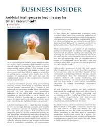 artificial intelligence to lead the way for smart recruitment the editorial explored the ubiquitous topic of artificial intelligence and how ai could lead the way for smart recruitment