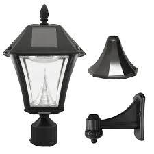 gama sonic baytown ii outdoor black resin solar post wall light baytown ii outdoor black resin solar post wall light warm white led