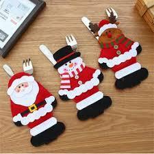 Christmas Tableware Knife and Fork Cover Bag Christmas ... - Vova