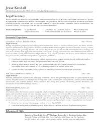 resume description for secretary