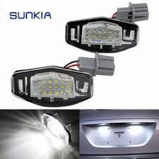 2pcs led car number license plate light for kia sportage 2011 for sonata 10 10 13 yf 10my 2010 2013 gf