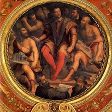 Risultati immagini per affresco del Palazzo delle Signoria a Firenze di Giorgio Vasari che ritrae Cosimo I de Medici