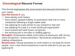 effective cv   resume writing       chronological résumé