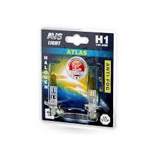 Галогенная <b>лампа AVS</b> /<b>ATLAS</b> ANTI-FOG/желтый <b>H1</b>.12V.55W ...