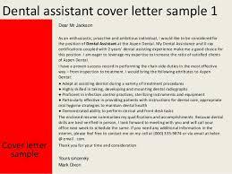 dental assistant cover letter sample cover letter examples dental assistant