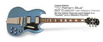 <b>Epiphone SG Custom</b> Maestro TV Pelham Blue - <b>Электрогитара</b>.