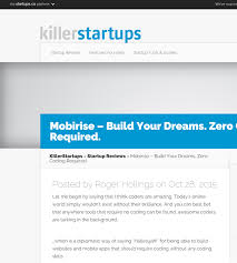 top website builder reviews of  killerstartups roger hollings