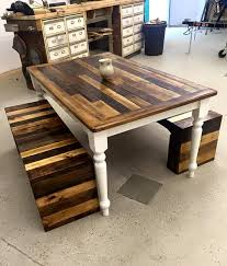 Wood Pallet Benches And Table Set  99 Pallets