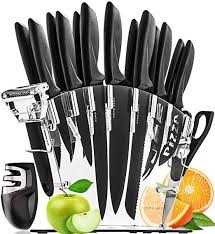 Stainless Steel Knife Set with Block - 13 Kitchen ... - Amazon.com