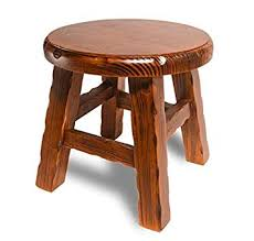 Solid wood small round stool/simple small stool ... - Amazon.com
