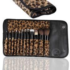 graceful 12 pcs makeup brush set clic cosmetic tool leopard bag brushes gift china