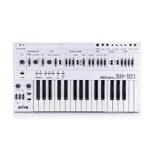 <b>Roland SH</b>-<b>101</b> Custom White + Cover Rare <b>Vintage Analog</b> ...