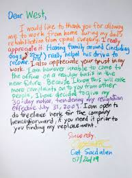 resignation letter format hand writing awesome resignation hand writing awesome resignation letters colorful words wonderful rainbow looking mail white paper