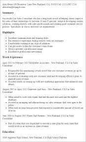 professional car sales consultant templates to showcase your    resume templates  car sales consultant