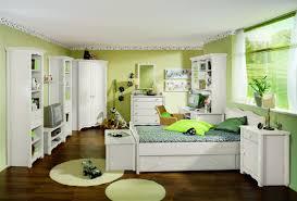 modern bedroom black green