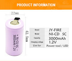 <b>10pcs High quality</b> battery rechargeable battery sub battery SC ...