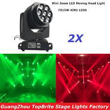 2xLot Newest <b>Led</b> Bee Eye Moving Head Light 7x15W RGBW 4IN1 ...