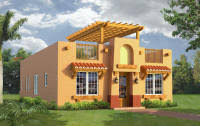 Belize Real Estate at Waterside   Home PlansShown in the Southwest Style