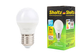 <b>Лампа светодиодная шар SHOLTZ</b> 5Вт E27 3000К 220В