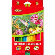 <b>№1</b> School <b>Карандаши цветные</b> ColorPics трехгранные с ...