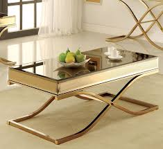 furniture of america cm4230c sundance contemporary brass metal coffee table brass and metal furniture