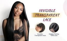 <b>Transparent</b> Lace Frontal <b>5x5 Lace Closure</b> Straight Brazilian ...