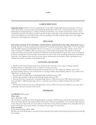 doc 500647 financial cv template business administration cv example resume resume objective definition resume purpose