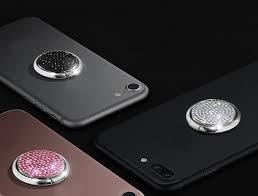 <b>Кольцо</b>-<b>держатель</b> для смартфона с блестящими камнями