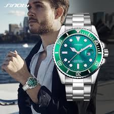 <b>SINOBI Watch Men Golden Watches</b> Luminous Pointer Stainless ...