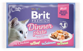 <b>Паучи</b> для кошек, <b>Brit Premium</b> Cat Jelly Dinner Plate купить с ...